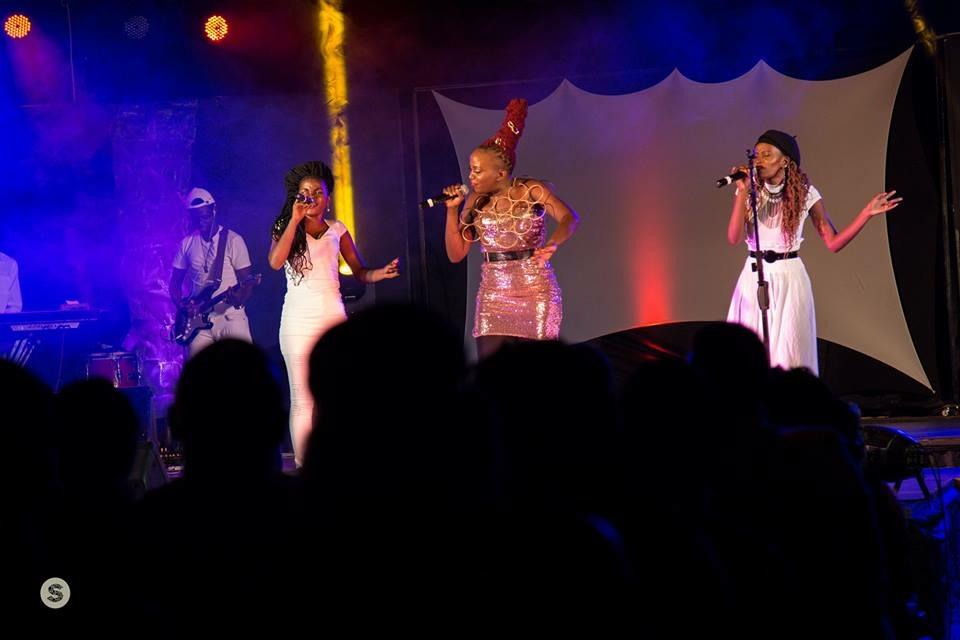 Sandra, Masha and Tonya on stage